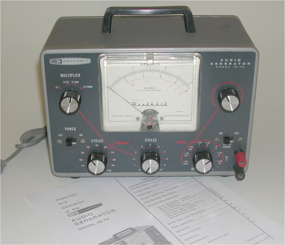 Audio Frequency Generator : Heathkit audio generator model ig ebay